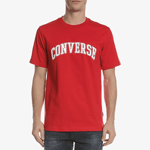Футболка Converse COLLEGIATE TEXT SS TEE ENAMEL RED